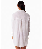 SUNDOWN LONG SLEEVE OVERSWIM WHITE