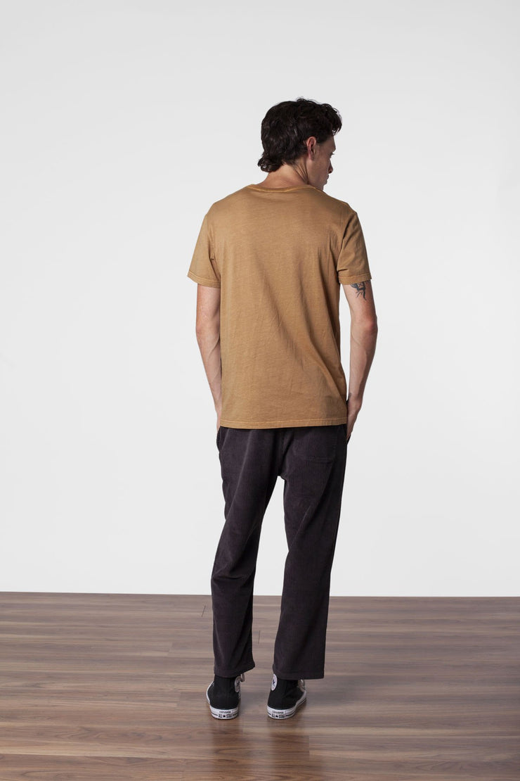 POCKET T SHIRT TOBACCO