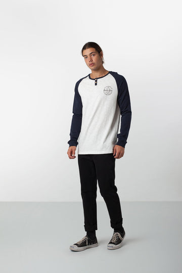 CONTRAST HENLEY NAVY / WHITE