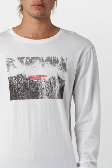 WASHED OUT LS T-SHIRT WHITE