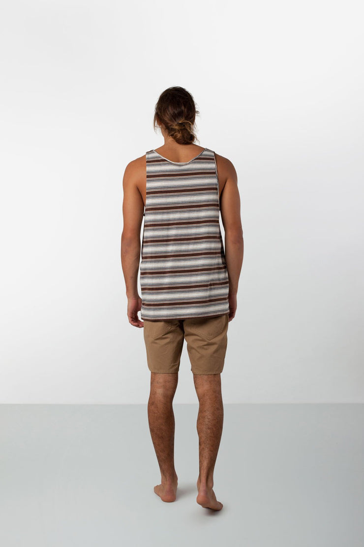 EVERYDAY STRIPE SINGLET VINTAGE TOBACCO