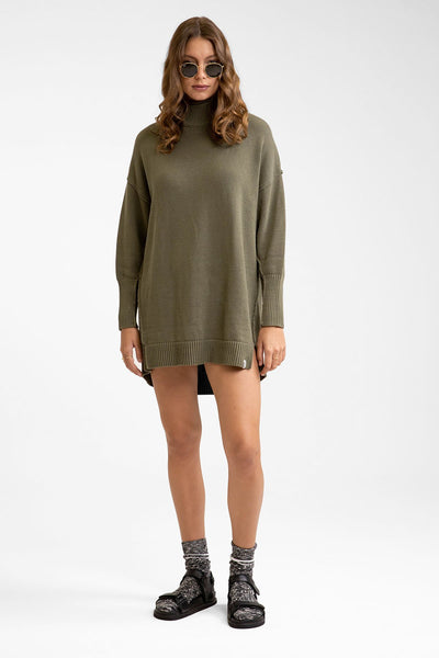 Winter Sun Knit Dress Khaki
