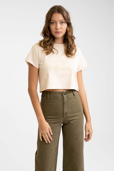 Wilderness Short Slv Tee Off White