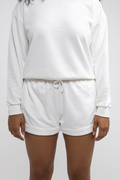 Laguna Fleece Short White