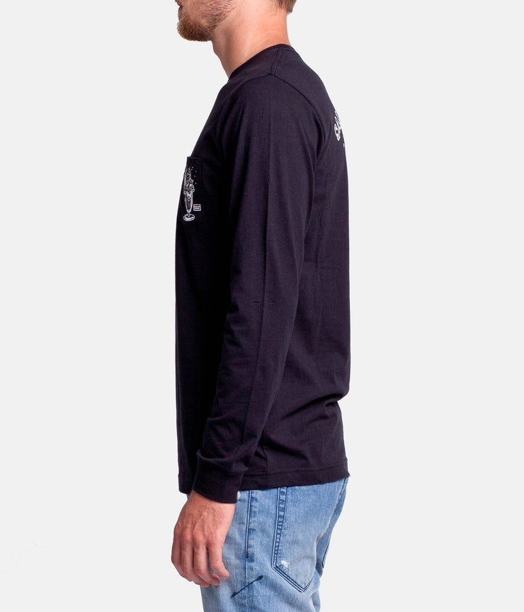 SALTED LS T-SHIRT BLACK