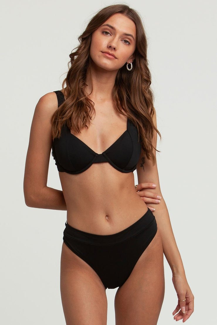 Seaside Underwire Top Black