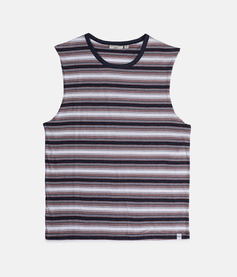 EVERYDAY STRIPE TANK VINTAGE NAVY