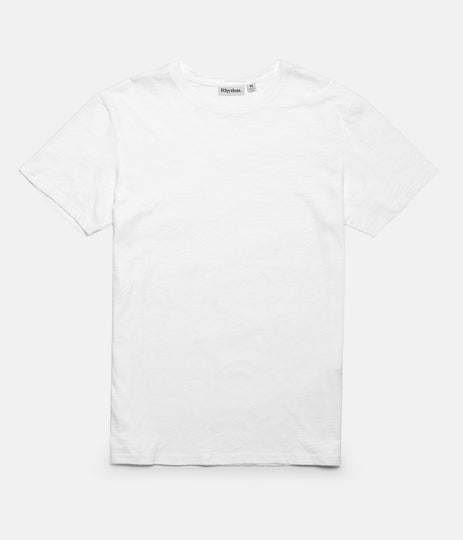 Rhythm Basic Slub T-Shirt White Front