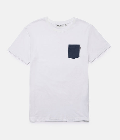 BASIC T-SHIRT WHITE / NAVY