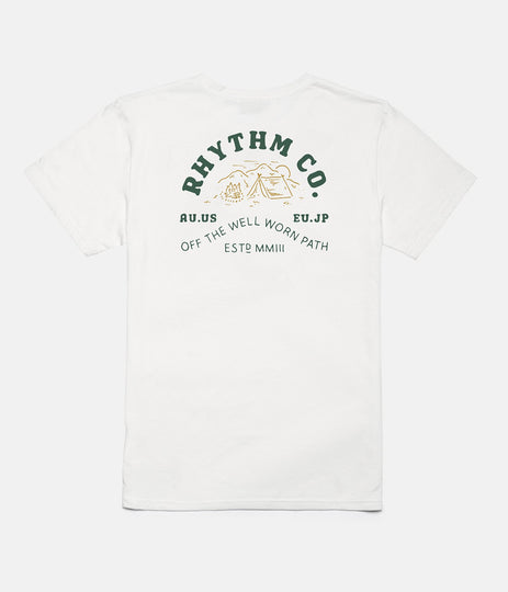RHYTHM CAMPER T-SHIRT WHITE BACK