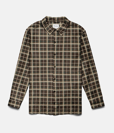 RHYTHM CARPENTER LS SHIRT CHOCOLATE FRONT