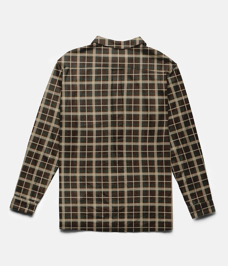 RHYTHM CARPENTER LS SHIRT CHOCOLATE BACK