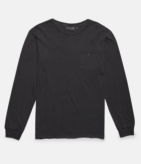 EVERYDAY WASH LS T-SHIRT VINTAGE CHARCOAL