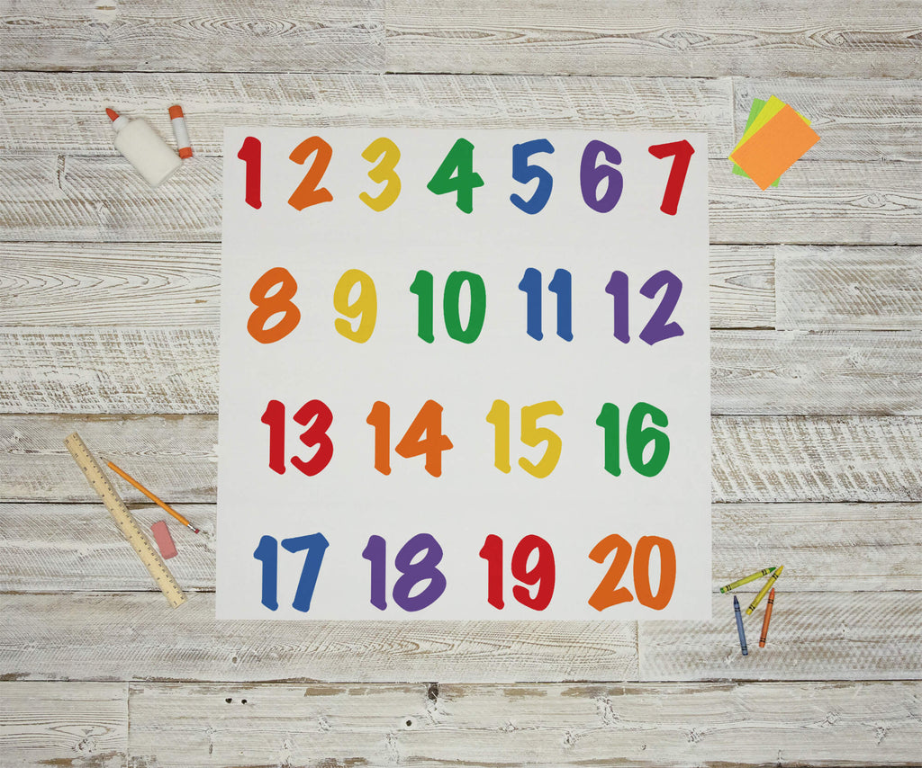 Colorful Number Wall Decals