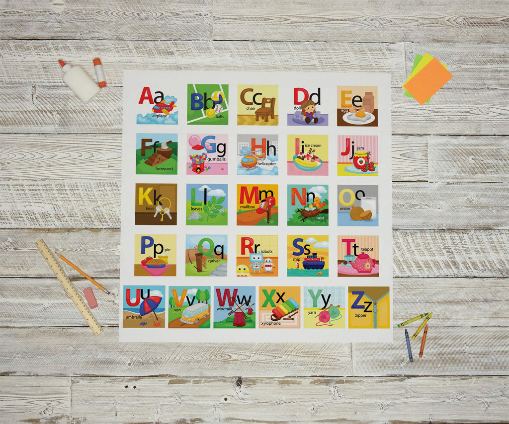 """Word and Object Association ABCs"" Peel & Stick School Wall Decals"