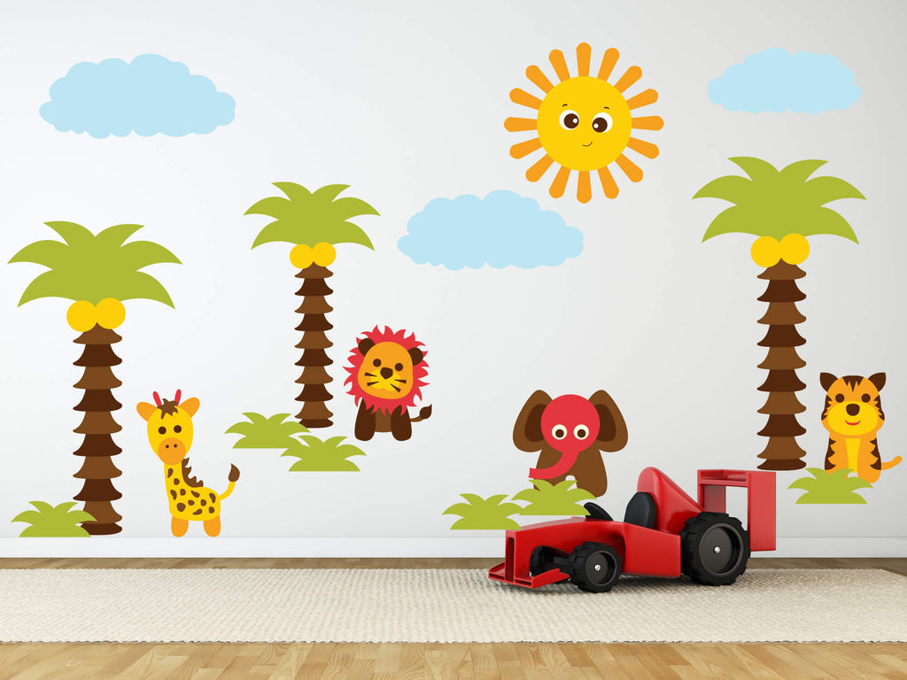 Wild Things! Baby Animal Safari Wall Decals