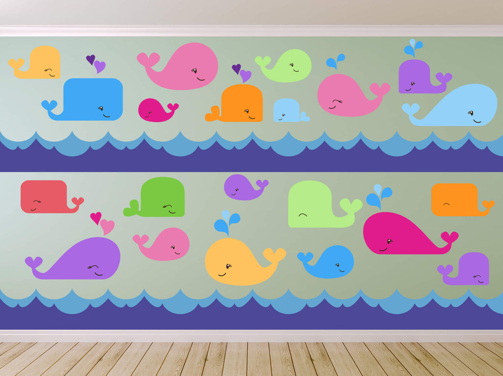 A Whale's Tale! Animal Ocean Wall Decals