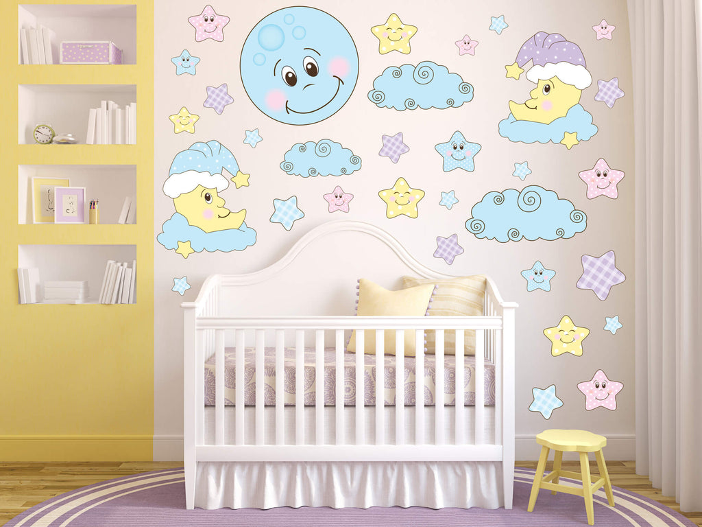 Whimsical Lullaby Baby Nursery Wall Decals
