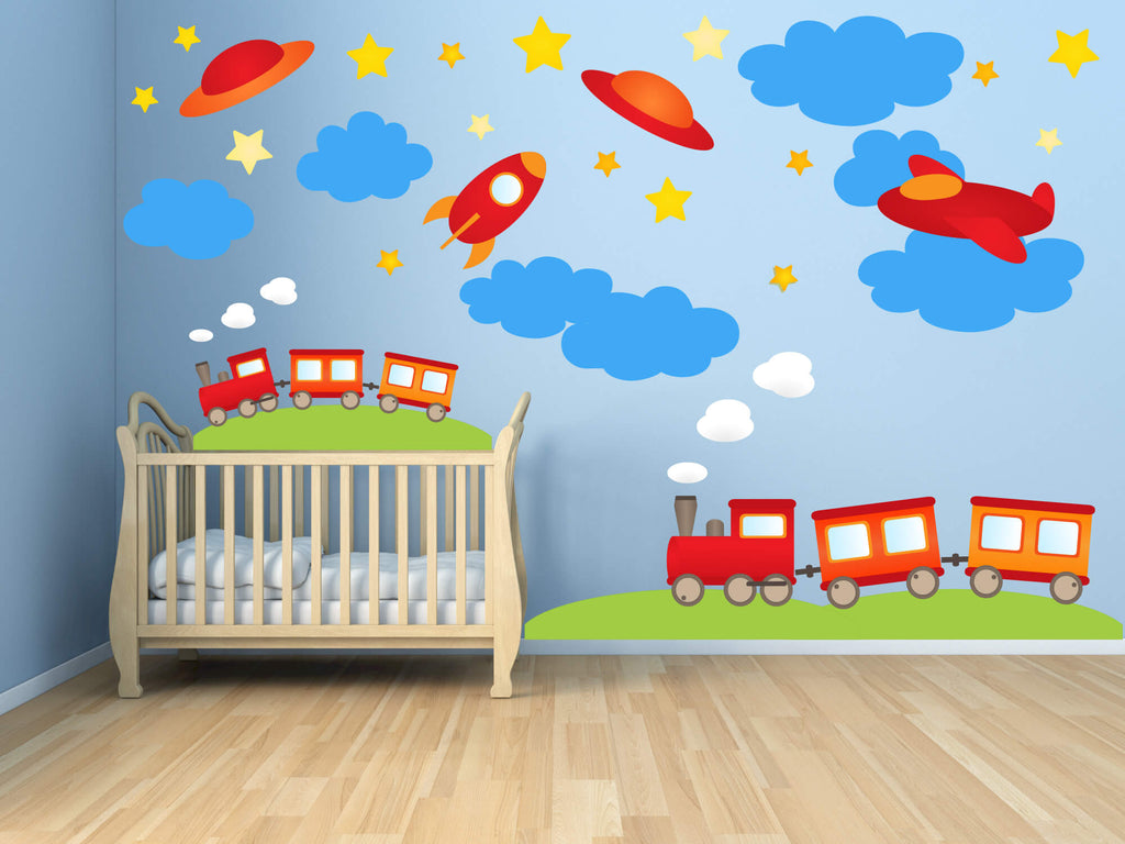 Next Stop Dreamland! Transportation Wall Decals