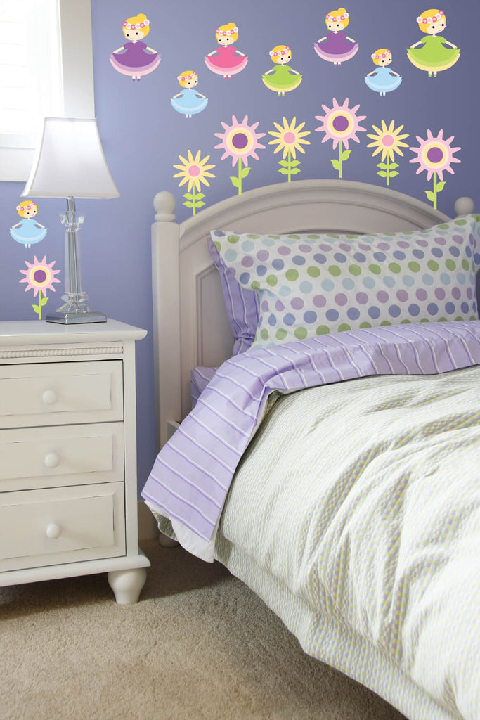 Pirouetting Princesses! Girls Nursery Wall Decals