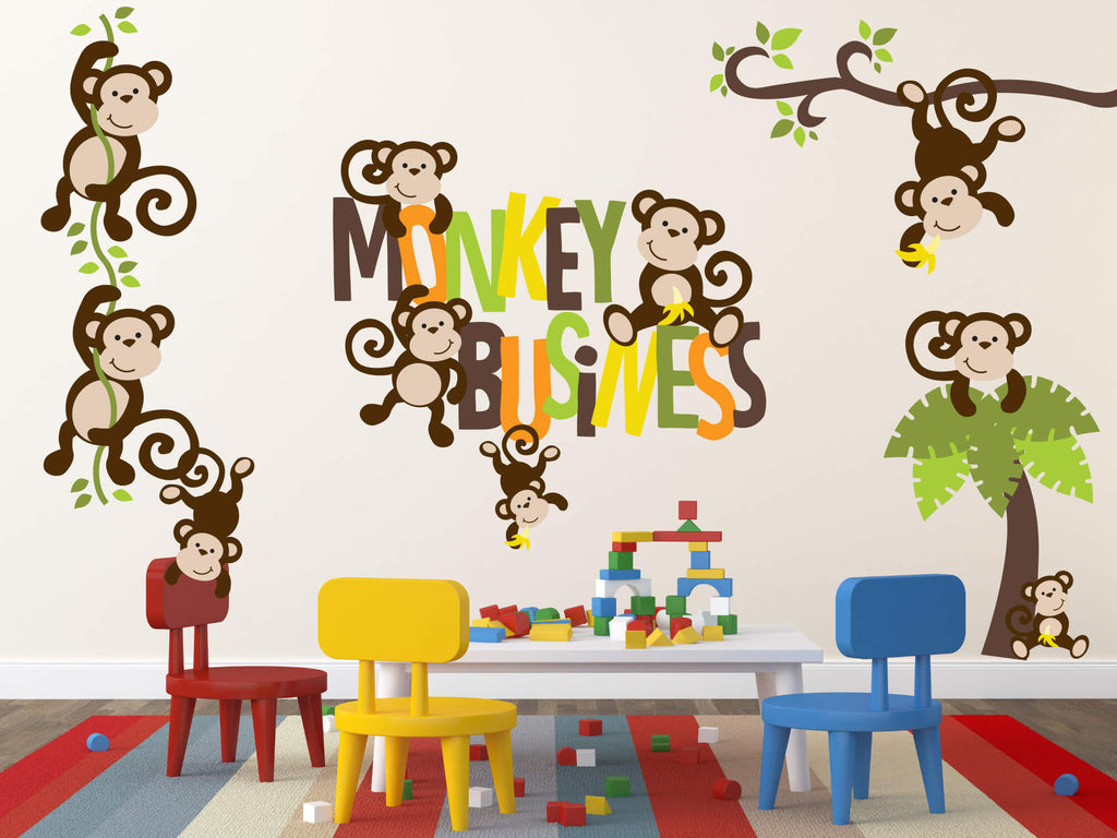 Monkey Business! Animal Nursery Wall Decals