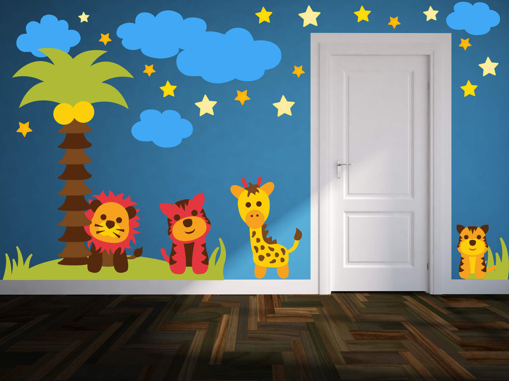 The Lion Sleeps Tonight! Animal Nursery Wall Decals
