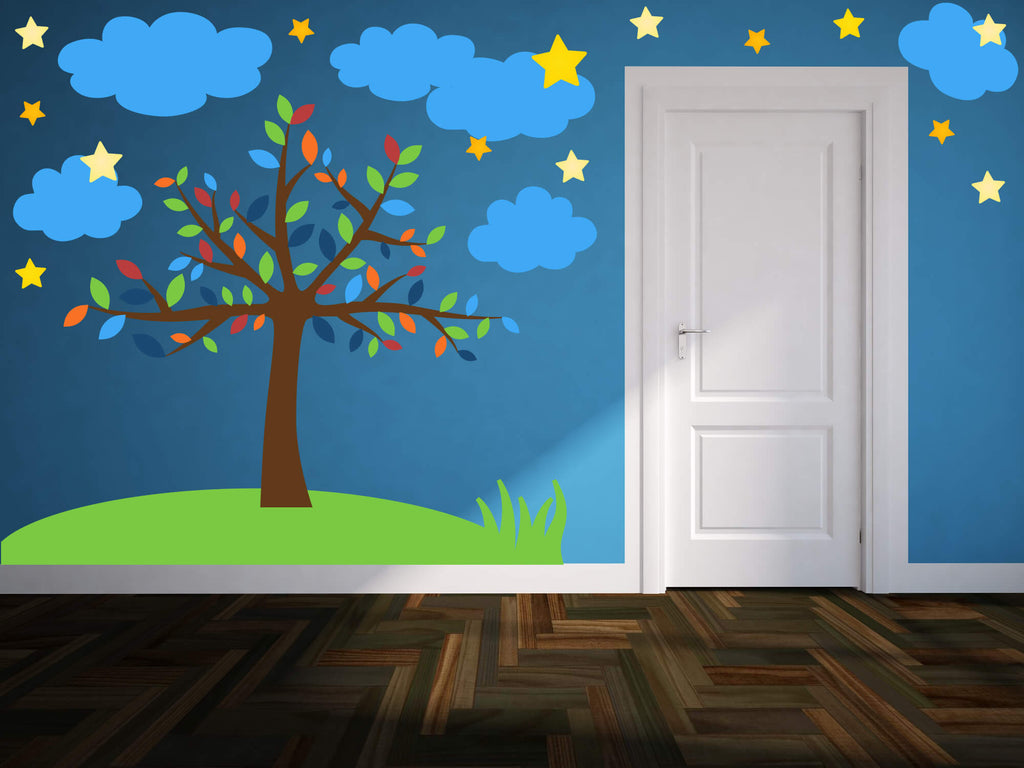 A Night Under The Stars! Tree Wall Decals