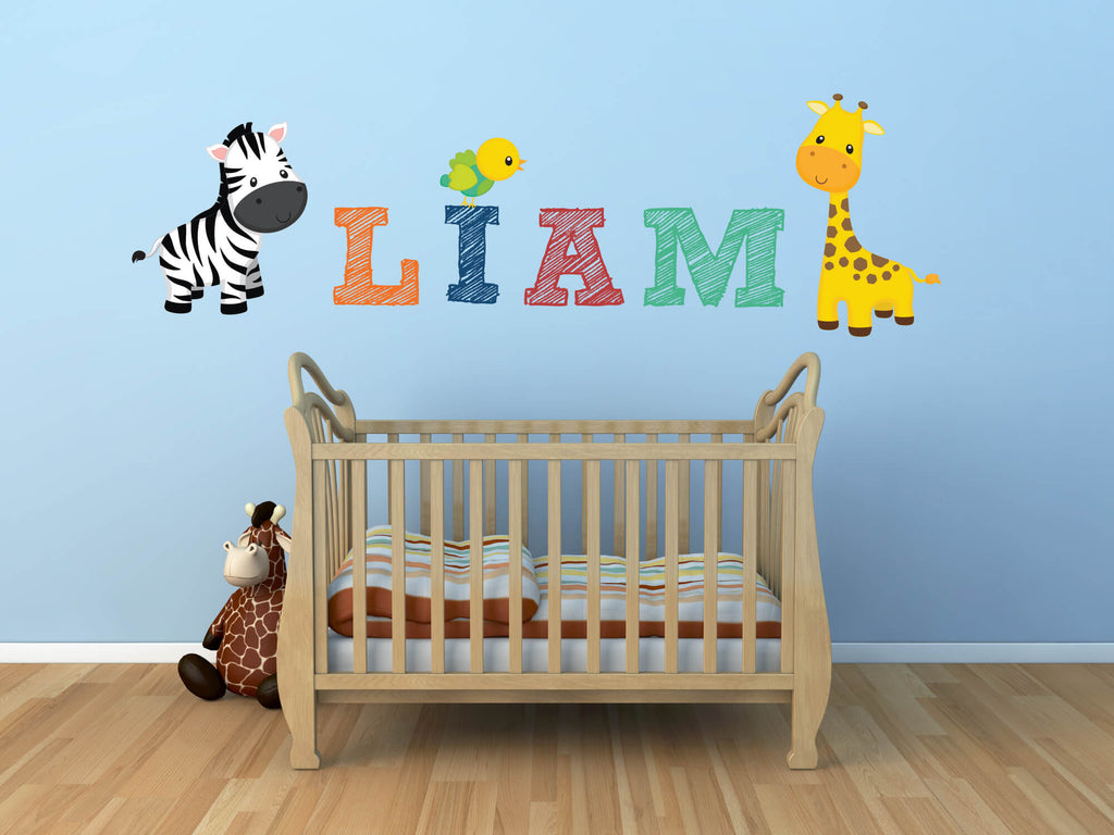 Welcome Baby! Nursery Jungle Wall Decals