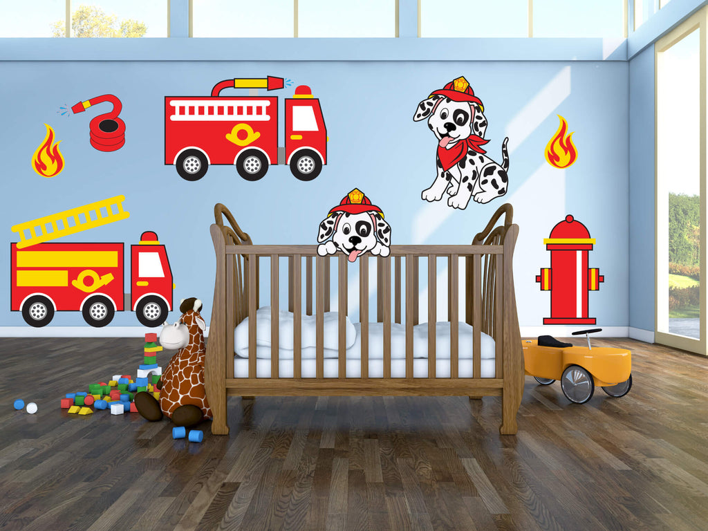 Firetruck Frenzy! Children's Truck Wall Decals