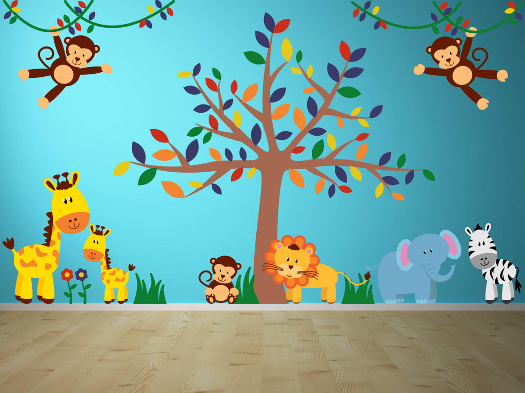 Safari Friends! Baby Jungle Wall Decals