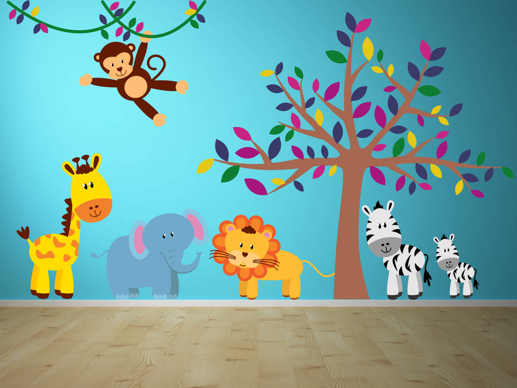 Party Animals! Jungle Nursery Wall Decals