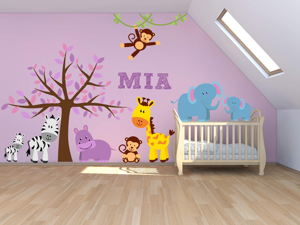 Jungle Girl! Animal Nursery Wall Decals