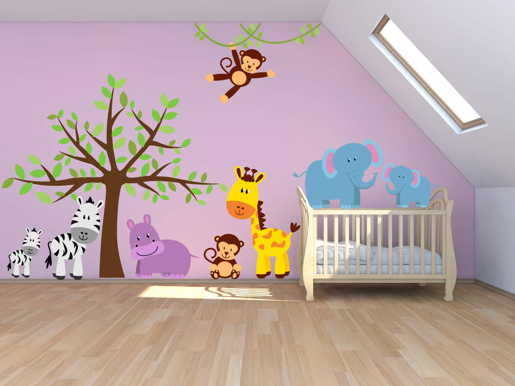 Jungle Baby! Animal Nursery Wall Decals