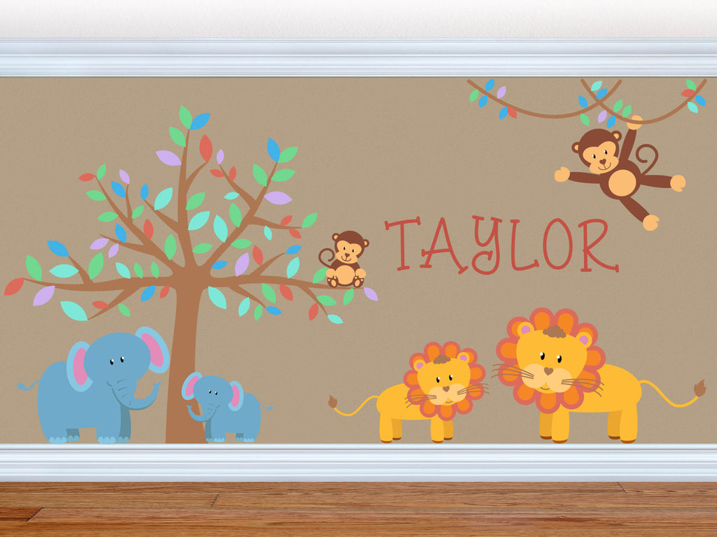 Soothing Safari! Jungle Nursery Wall Decals