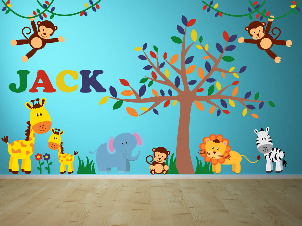 Jungle Room! Animal Nursery Wall Decals