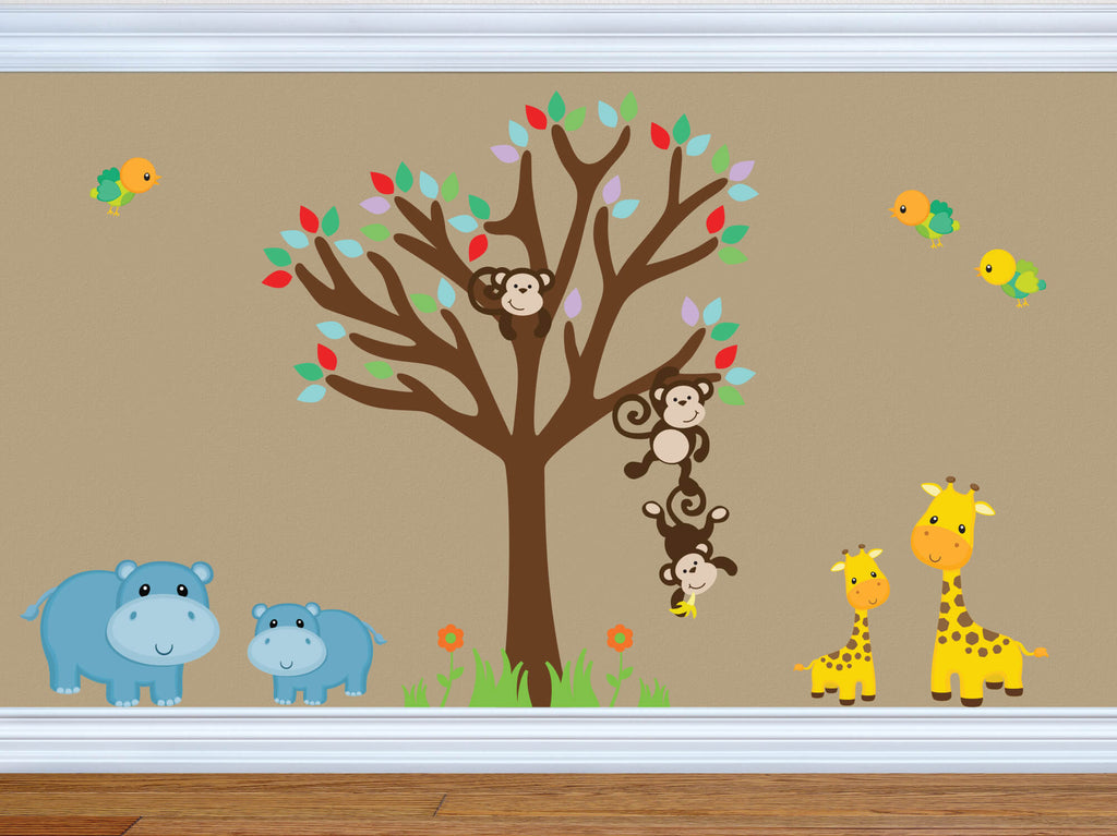 Animal Buddies! Animal Safari Wall Decals