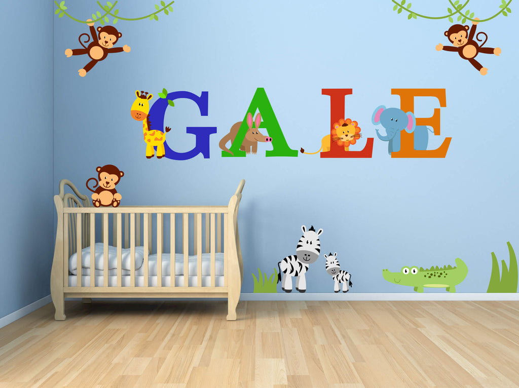 Zoo Babies! Jungle Animal Nursery Wall Decals