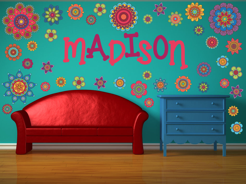 Groovy Flowers! Nursery Wall Decals