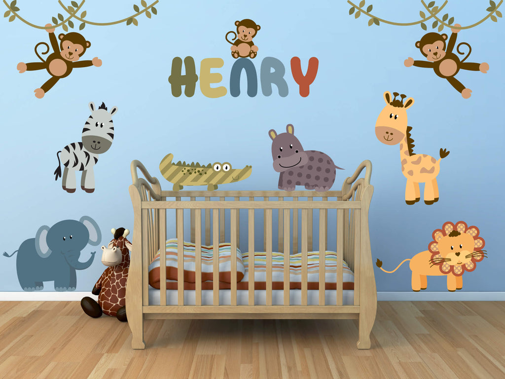 Jungle Boy! Jungle Animal Nursery Wall Decals