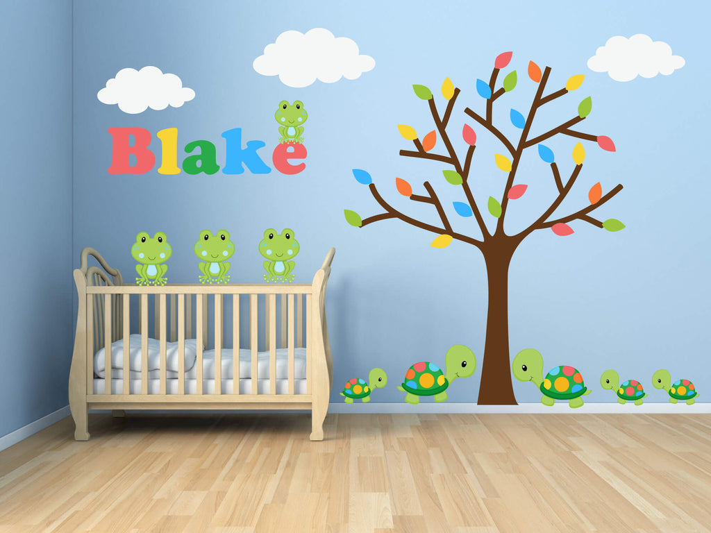 Serene Spring! Jungle Animal Wall Decals