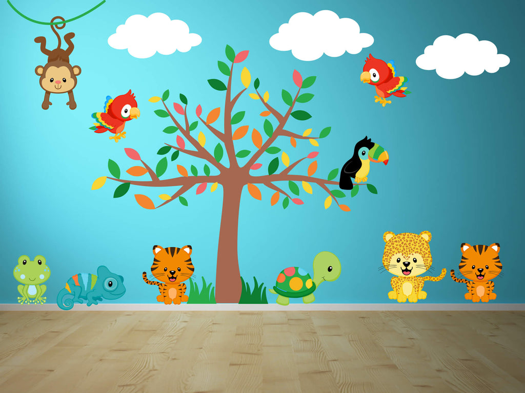 Jungle Fun! Nursery Animal Wall Decals