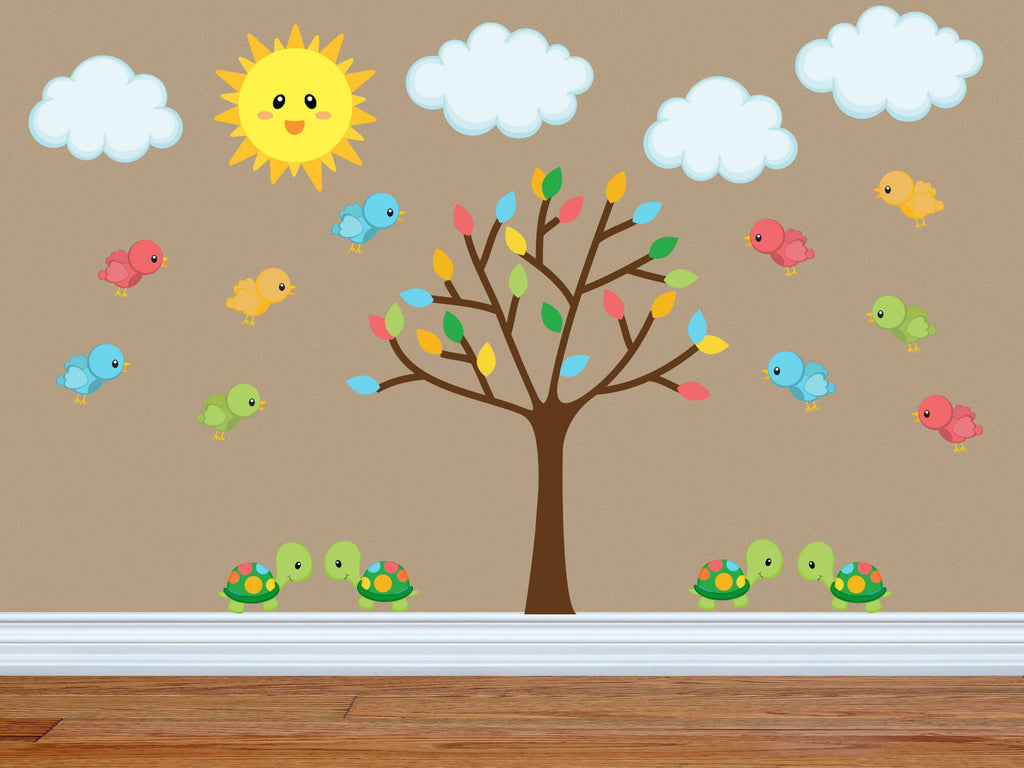 The Bright Sun Comes Up! Jungle Nursery Wall Decals