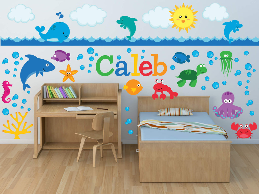 A Day At Sea! Ocean Nursery Wall Decals