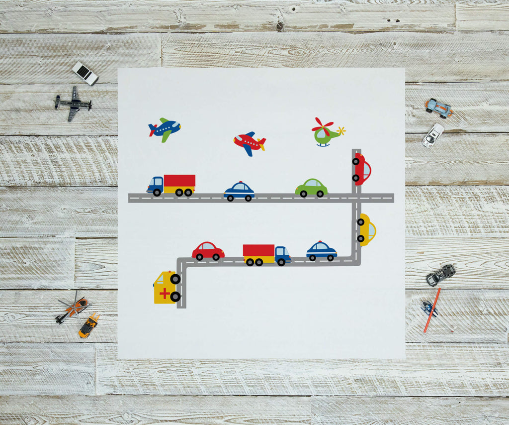 Highway to Fun! Nursery Wall Decals Stickers
