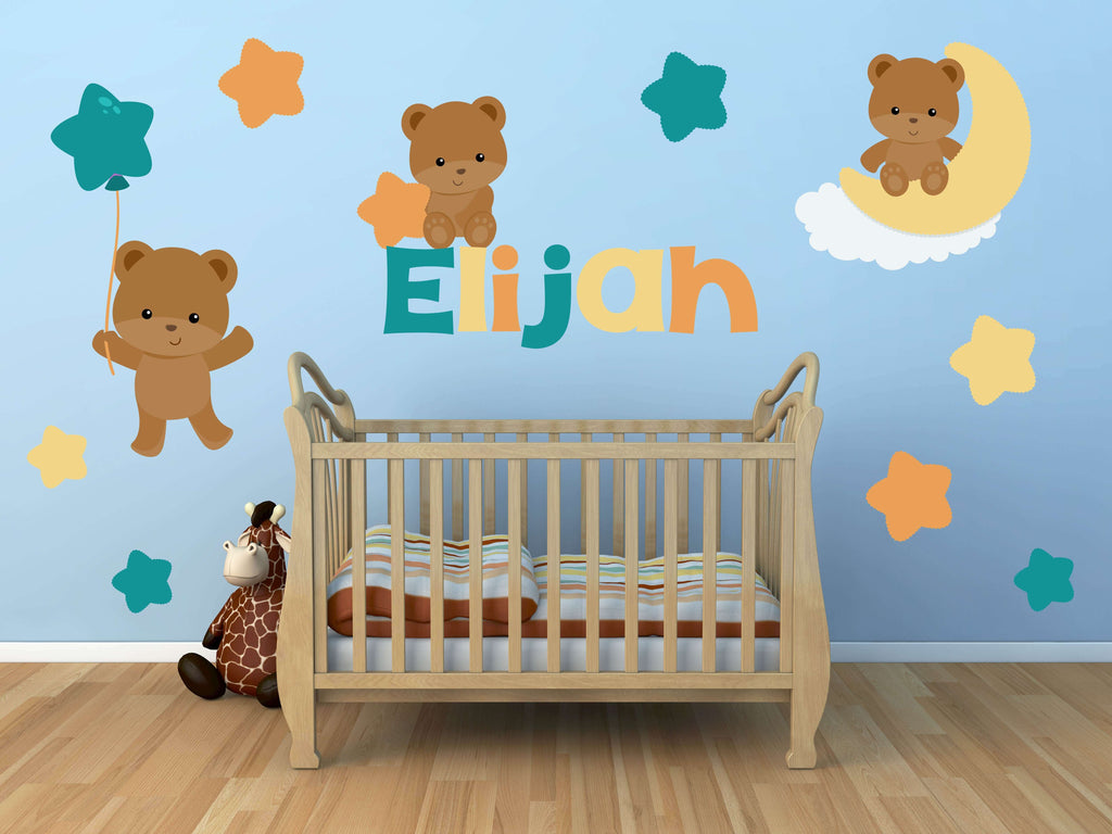 Teddy Bear Dreamers! Animal Nursery Wall Decals