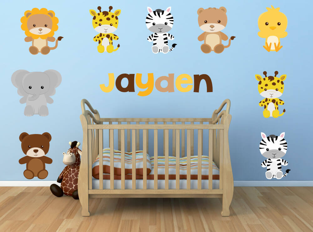 Safari Cuddles! Jungle Nursery Wall Decals