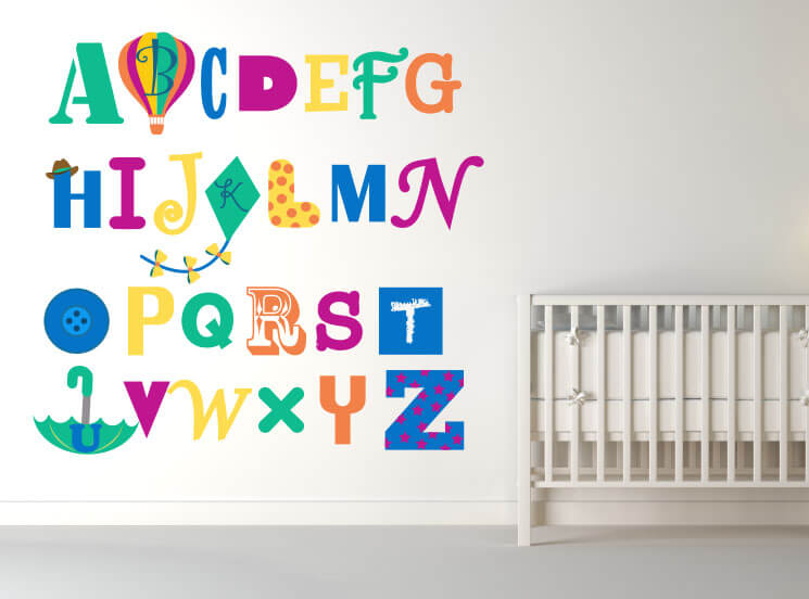 ABC's for me! Alphabet Nursery Wall Decals