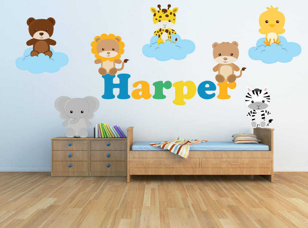 Cloud Animals! Baby Jungle Nursery Wall Decals