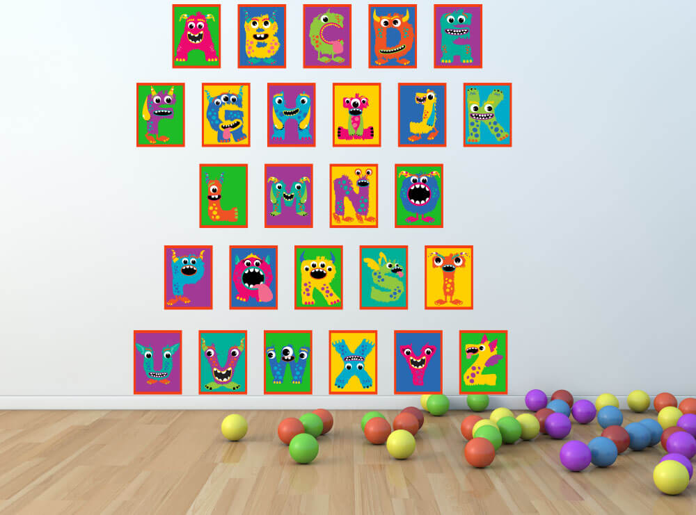 Roaring Through the Alphabet! Monster Nursery Wall Decals