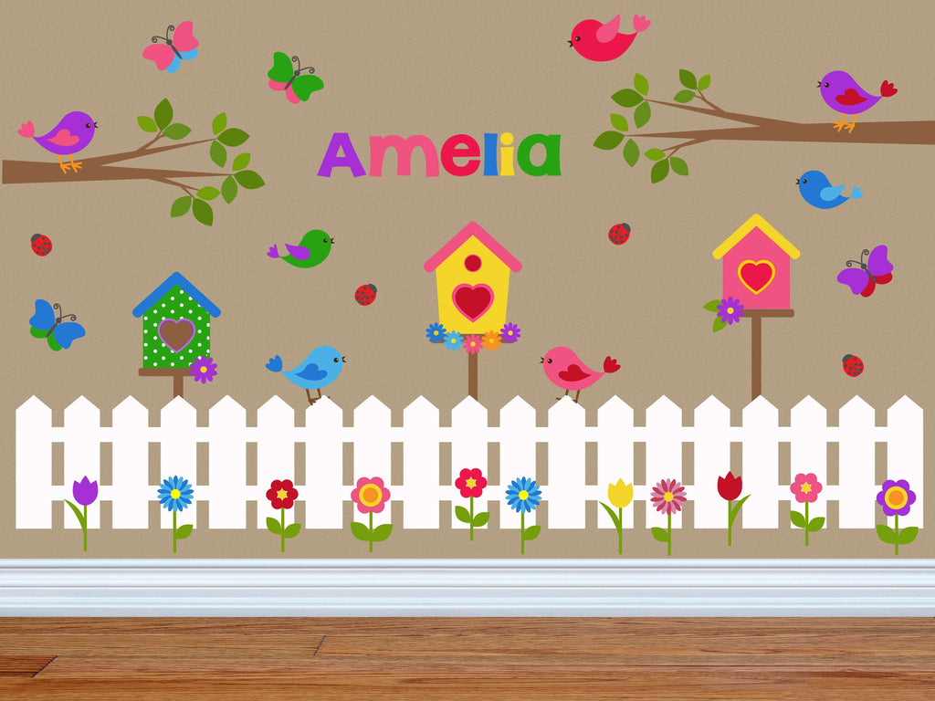 Secret Garden! Bird Butterfly Tree Wall Decals